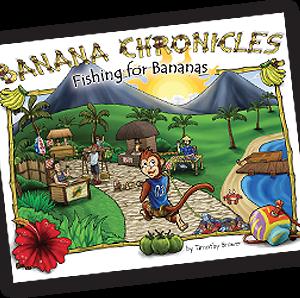 Banana Chronicles Book 1 Fishing For Bananas Children's Book Cover